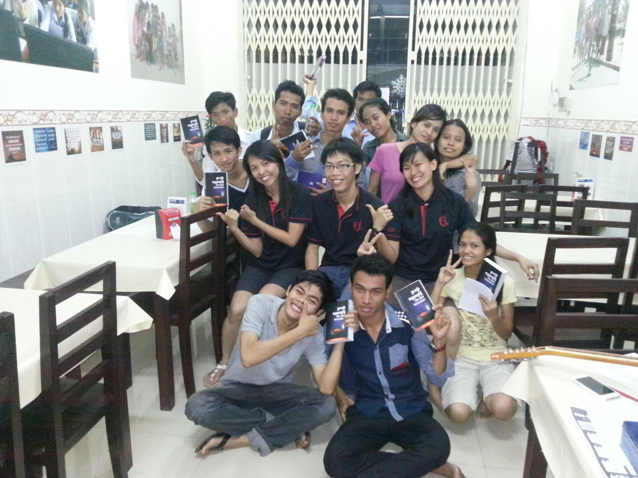 OCPP Group Photo with English & Khmer Bibles from PFS