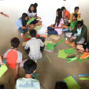 HVPV children engaged in arts and craft