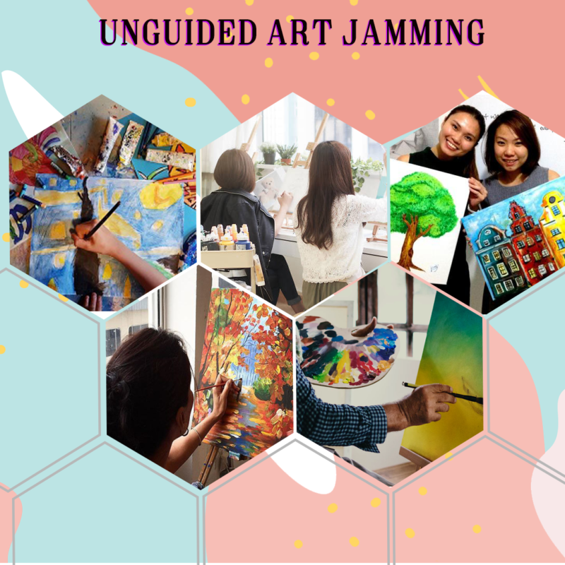 Unguided Art Jamming Website Visual
